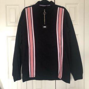 Lazy Oaf Long Sleeve Quarter Zip Rugby Shirt